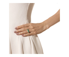 Baja Ring - Green Onyx - Monica Vinader
