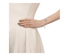Rose Gold Vermeil Capri Chain Bracelet - Aquamarine - Monica Vinader