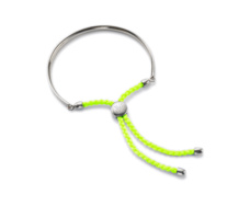 Fiji Friendship Bracelet - Fluoro Yellow  - Monica Vinader