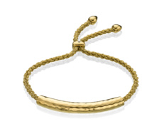 Gold Vermeil Esencia Friendship Bracelet - White Topaz - Gold Metallica - Monica Vinader