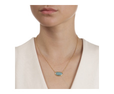 Gold Vermeil Capri Necklace - Aquamarine - Monica Vinader