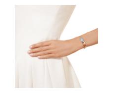 Rose Gold Vermeil Capri Thin Cuff  - Aquamarine - Monica Vinader