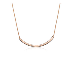 Rose Gold Vermeil Esencia Long Chain Necklace