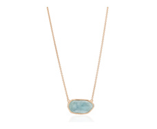Rose Gold Vermeil Capri Necklace - Aquamarine - Monica Vinader