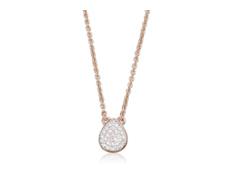 Rose Gold Vermeil Alma Diamond Necklace  - Monica Vinader