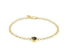 Gold Vermeil Atlantis Gem Mini Bracelet - Line Onyx