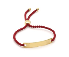 Gold Vermeil Havana Friendship Bracelet - Crimson