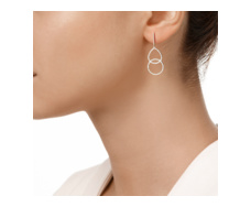 Rose Gold Diva Kiss Open Cocktail Earrings - Diamond