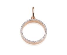 Rose Gold Vermeil Diva Circle Open Pendant - Diamond