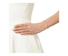 Rose Gold Vermeil Diva Thin Open Cuff - Diamonds