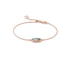 Rose Gold Vermeil Vega Bracelet - Labradorite