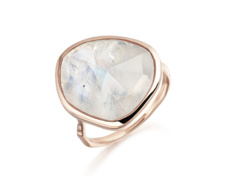 Rose Gold Vermeil Siren Ring - Moonstone - Monica Vinader