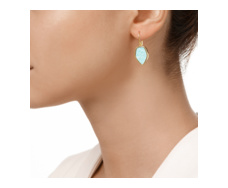 Gold Vermeil Atlantis Flint Drop Earrings - Amazonite Model