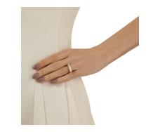 Gold Vermeil Baja Ring - White Chalcedony Model Shot