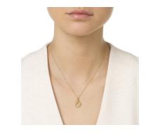 Gold Vermeil Alphabet Pendant E Model