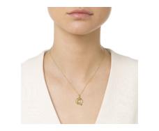 Gold Vermeil Alphabet Pendant Q Model