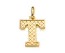 Gold Vermeil Alphabet Pendant T