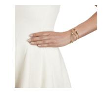 Gold Vermeil Linear Diamond Toggle Chain Bracelet Model