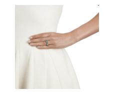 Rose Gold Vermeil Baja Precious Skinny Ring - Ruby Stack