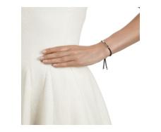 Linear Friendship Bracelet - Black Cord Model