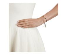 Gold Vermeil Linear Friendship Bracelet - Mink Cord model