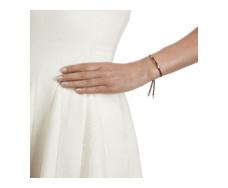 Rose Gold Vermeil Linear Friendship Bracelet - Dark Wine Cord model