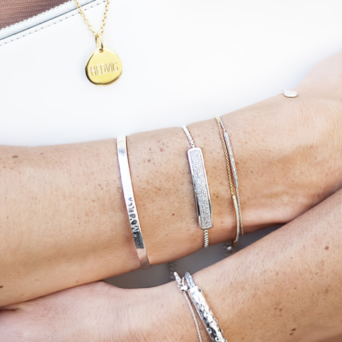 Engraved friendship bracelets