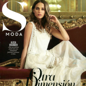 Alicia Vikander wearing Baja bracelet and Diva cuff in S Moda