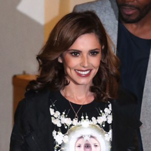 Cheryl Fernandez-Versini wears Riva and Alphabet collections as she exits the X factor studios