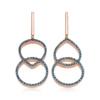 Rose Gold Vermeil Naida Kiss Open Cocktail Earrings - Blue Diamond - Monica Vinader