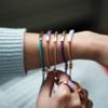 Rose Gold Vermeil Linear Stone Bracelet - Amazonite - Monica Vinader