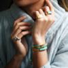 Gold Vermeil Linear Stone Bracelet - Amazonite - Monica Vinader