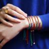 Gold Vermeil Linear Friendship Bracelet - Green Metallica - Monica Vinader