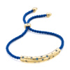 Gold Vermeil Esencia Scatter Friendship Bracelet - Royal Blue - Monica Vinader