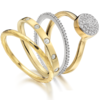 Gold Vermeil Ava Button Ring - Diamond - Monica Vinader