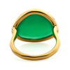 Gold Vermeil Siren Ring - Green Onyx back