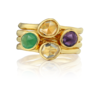 Gold Vermeil Siren Small Stacking Ring - Amethyst - Monica Vinader