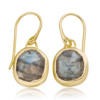 Gold Vermeil Siren Wire Earrings - Labradorite - Monica Vinader