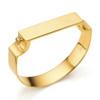 Gold Vermeil Signature Petite Wide Bangle - Monica Vinader