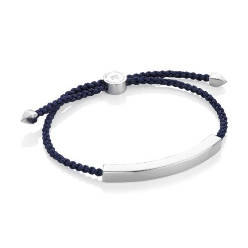 Linear Large Friendship Bracelet - Denim Blue - Monica Vinader