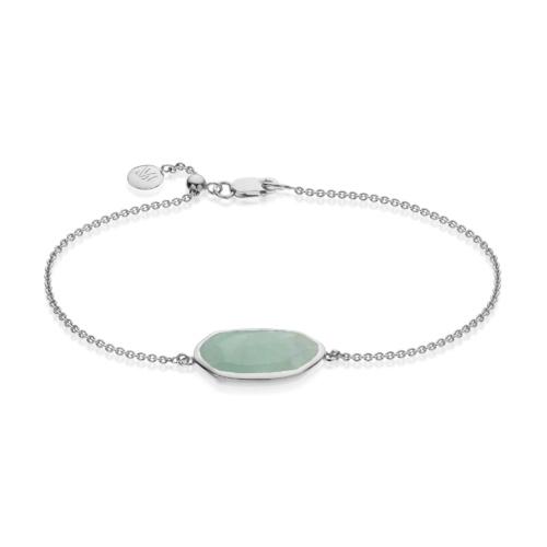 Capri Chain Bracelet - Aquamarine - Monica Vinader