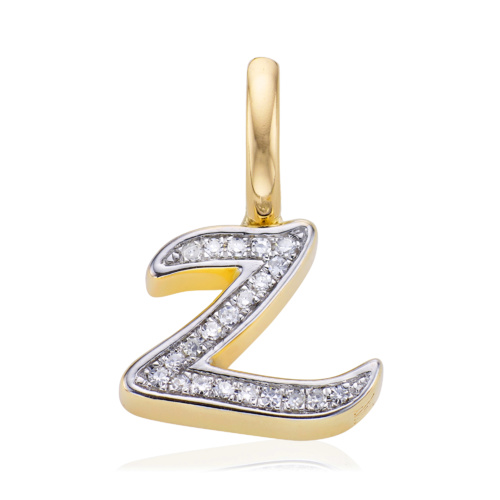 Gold Vermeil Diamond Alphabet Pendant Z - Diamond - Monica Vinader
