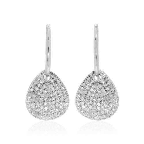 Alma Drop Earrings - Diamond - Monica Vinader