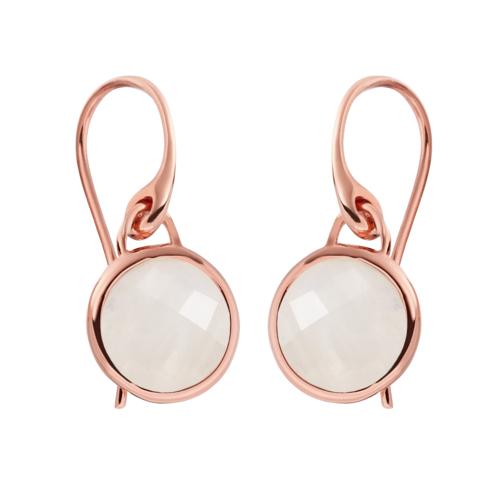 Rose Gold Vermeil Mini Luna Earrings - Moonstone - Monica Vinader