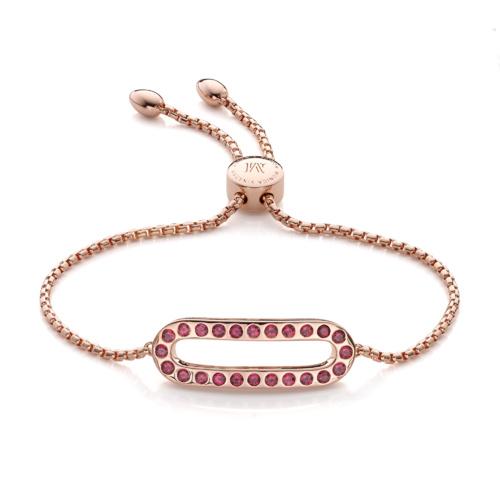 Rose Gold Vermeil Pop Bracelet - Hyderabadi Garnet - Monica Vinader