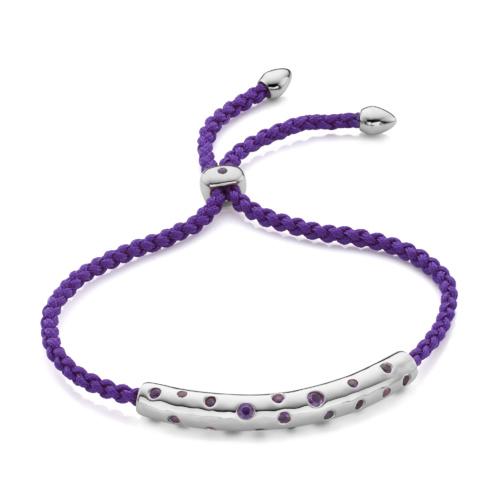 Esencia Scatter Friendship Bracelet - Plum - Monica Vinader