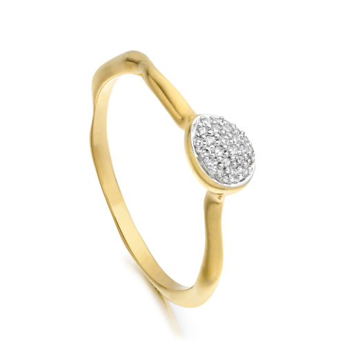 Gold Vermeil Siren Diamond Small Stacking Ring