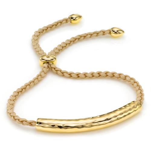 Gold Vermeil Esencia Friendship Bracelet - Nude - Monica Vinader