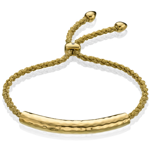 Gold Vermeil Esencia Friendship Bracelet - Gold Metallica - Monica Vinader