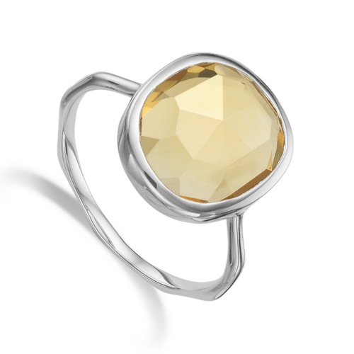 Siren Medium Stacking Ring - Citrine